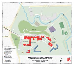 Glendon Campus Map
