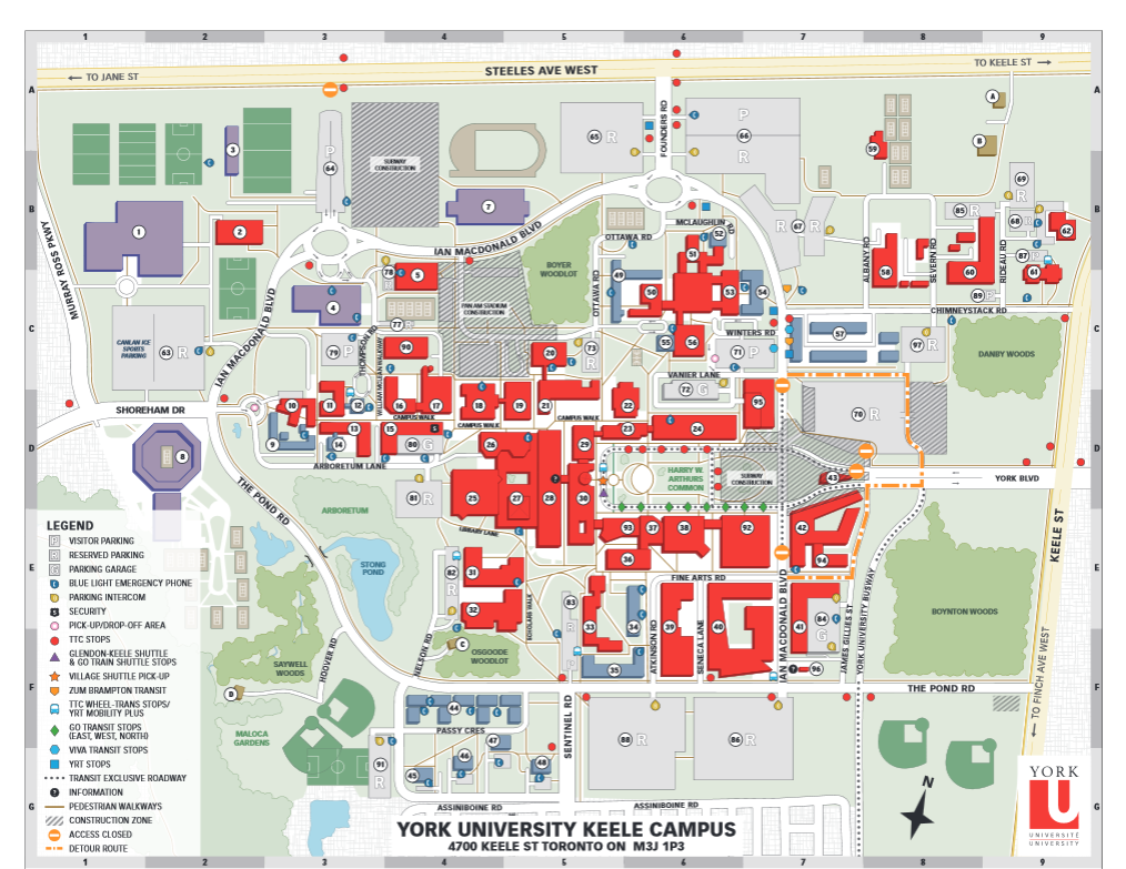 Keele Campus Map